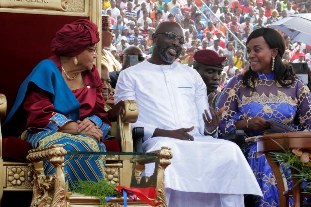 President George Weah during the Inauguration